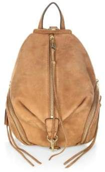 Rebecca Minkoff Julian Medium Nubuck Backpack - ALMOND - STYLE