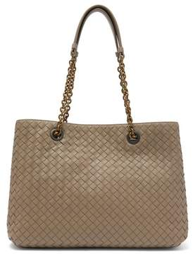 Bottega Veneta Intrecciato Medium Leather Tote - Womens - Grey