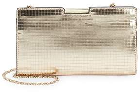 Milly Women's Mirror Mosiac Small Frame Leather Clutch