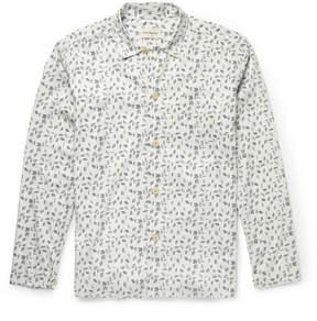 Oliver Spencer Loungewear Printed Stretch-Cotton Pyjama Shirt