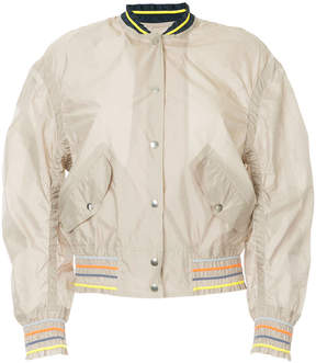 Kolor cropped bomber jacket