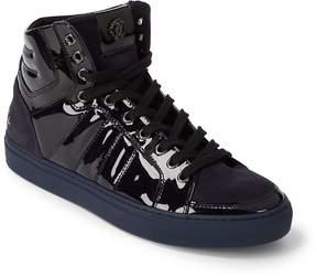 Roberto Cavalli Men's Suede & Velvet High-Top Sneakers