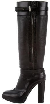 Belstaff Leather Knee-High Boots