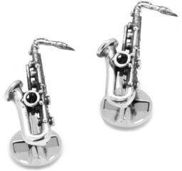 Cufflinks Inc. Cufflinks, Inc. Saxophone Sterling Silver Cuff Links
