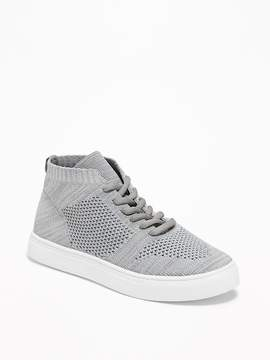 Old Navy Rib-Knit Mid-Top Sneakers for Boys
