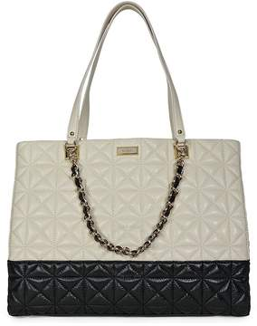 Kate Spade Open Box - New York Sedgewick Place Francesca Large Tote Bag - Pale Cream/Black