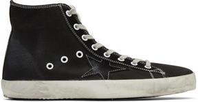 Golden Goose Deluxe Brand Black Canvas Francy High-Top Sneakers
