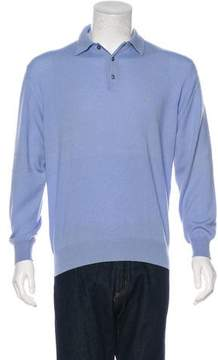 Ralph Lauren Purple Label Cashmere Polo Sweater