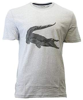 Lacoste Robert George' Croc Graphic T-Shirt Fashion Tee - Silver Chine - Mens - 6