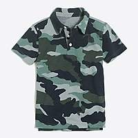 J.Crew Factory Boys' short-sleeve camo print polo shirt
