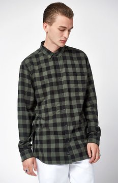 Globe Barkly Vintage Plaid Long Sleeve Button Up Shirt