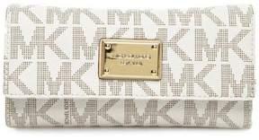 Michael Kors MICHAEL Jet Set Checkbook Logo Wallet - VANILLA - STYLE