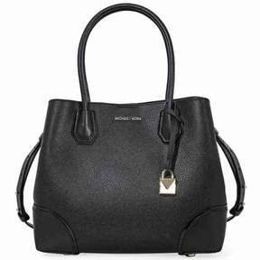 Michael Kors Mercer Medium Leather Satchel - Black - BLACKS - STYLE