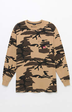 Brixton Stith Camouflage Long Sleeve Pocket T-Shirt