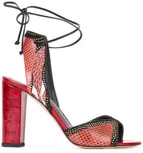 Jean-Michel Cazabat snakeskin effect sandals