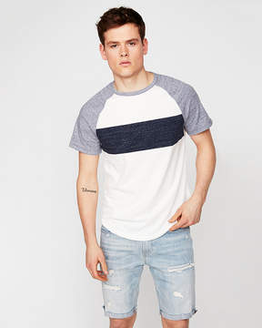 Express Striped Color Block Stretch Tee