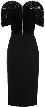 Christian Siriano zipped fitted dress