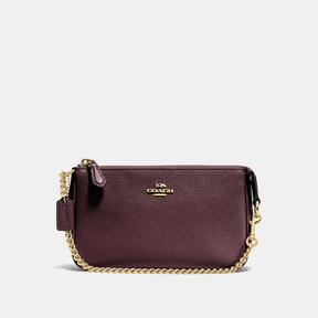COACH Coach Nolita Wristlet 19 - LIGHT GOLD/OXBLOOD - STYLE