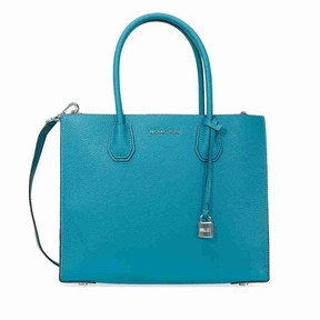Michael Kors Mercer Pebbled Leather Tote - Peacock - PEACOCK - STYLE