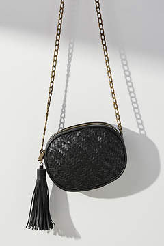Deux Lux Woven Oval Crossbody Bag
