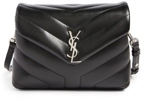 Saint Laurent Toy Loulou Calfskin Leather Crossbody Bag - Black - BLACK - STYLE