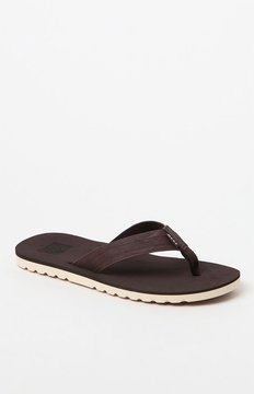 Reef Voyage Dark Brown Flip Flops