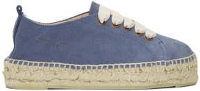 Manebi Blue Hamptons Double Sneaker Espadrilles