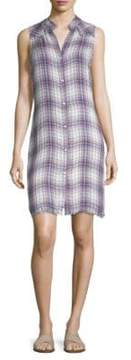 Bella Dahl Plaid Button-Front Dress