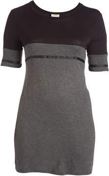 Celeste Black & Charcoal Colorblock Tunic - Plus