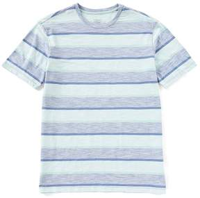 Roundtree & Yorke Soft-Washed Short-Sleeve Striped Crew