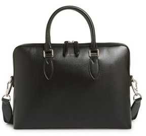 Burberry 'New London' Calfskin Leather Briefcase - Black