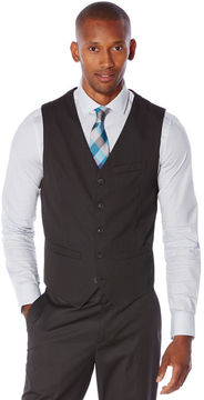 Perry Ellis Micro Check 5 Button Suit Vest
