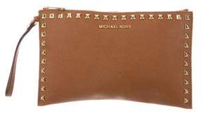 MICHAEL Michael Kors Embellished Leather Pouch