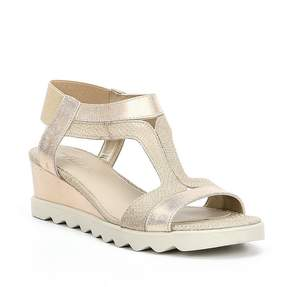 The Flexx Give A Hoot Metallic Wedge Sandals