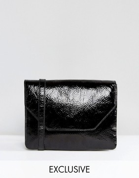 Monki Cracked Vinyl Cross Body Bag