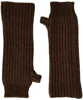 Marni Zip Detailed Wool English Rib Fingerless Mitten