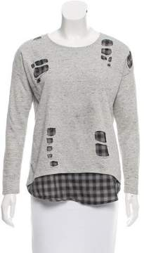 Generation Love Distressed Layered Sweatshirt