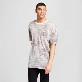 Jackson Men's Striped Short Sleeve Drop Shoulder Tie Dye T-Shirt Neural Stripe