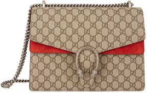 Gucci Dionysus GG Supreme Shoulder Bag - RED - STYLE