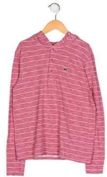Lacoste Boys' Stripe Hooded Shirt