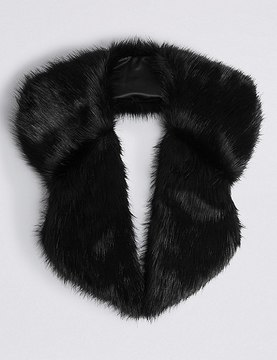 Marks and Spencer Faux Fur Collar Scarf