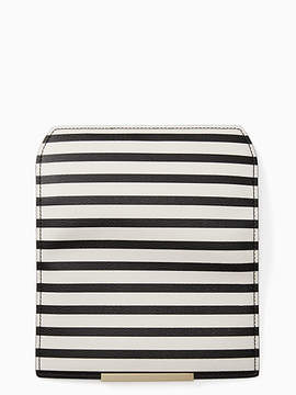 Kate Spade Make it mine stripe flap - CEMENT/BLACK - STYLE