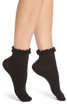 Chelsea28 Women's Velvet Trim Crew Socks