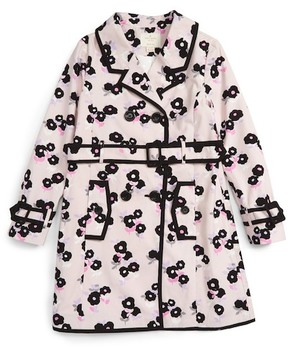 Kate Spade Topliner Double Breasted Trench Coat (Big Girls)