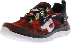 Reebok Boy's Z Pump Fusion Flame Black / Red White Yellow Ankle-High Running Shoe - 5.5M