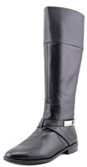 Alfani Egila Wide Calf Round Toe Leather Knee High Boot.
