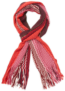 Missoni Men's Chevron Wool Long Scarf