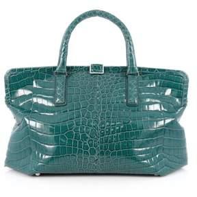 Bottega Veneta Pre-owned: Frame Tote Crocodile Medium.