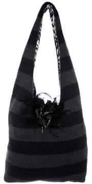 Alice + Olivia Embellished Knit Hobo