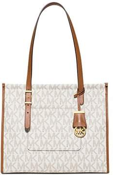 Michael Kors Darien Medium Vanilla/Acorn Logo Tote Bag - ONE COLOR - STYLE